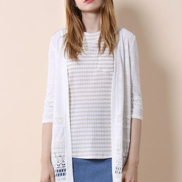 Lacey Refinement Open Front Cardigan