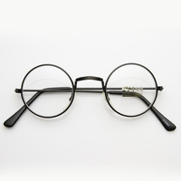Vintage Round Circle Clear Lens Spectacles Glasses 7011