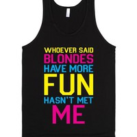 Brunettes Have More Fun-Unisex Black Tank
