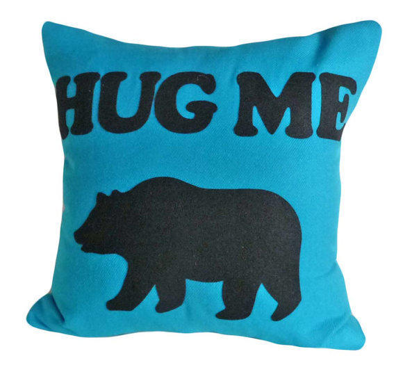 Pillow Talk Pillow Bear Hug Me Please by from PillowThrowDecor on