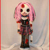 OOAK Hand Stitched Zombie Horror Doll Creepy by TatteredRags