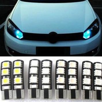 Car Styling 1pcs car T10 12V 5050 5W5 CAR BOAT LED car lights license plate Auto Projector Lens Parking Interior led lamp