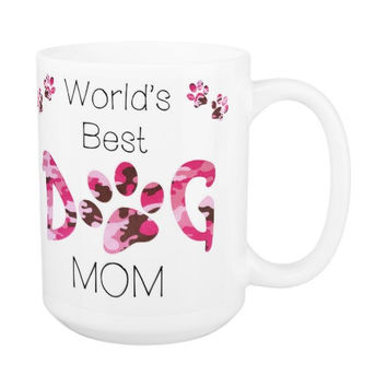 Dog Mom Coffee Mug 13A - Mothers Day Dog Mug - Dog Lover Gift - Worlds Best Dog Mom - Gift for Mom - Gift for Dog Lover - Pet Lovers