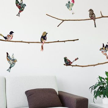 Tapestry Birds & Branches Wall Decals