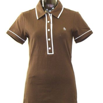 Original Penguin Women's Polo Shirt - Original Penguin by Munsingwear Veronica Ladies' Polo Shirt | Brown
