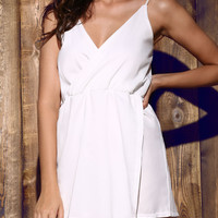 White Strappy Romper