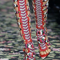 Lora Knee High Gladiator Sandals