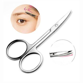 1Pcs Professional Eyebrow Trimmer Eyelash Shaping Eyebrow Cosmetic Tool Eyebrow Shaver Tool Eyelash Scissors Eyelash Extension
