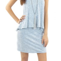 BCBGeneration | overlay racerback dress