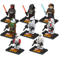 Star Wars Series 8 Pcs Set Minifigures Building Block Toys New Kids Gift Free Shipping Compatible With Lego