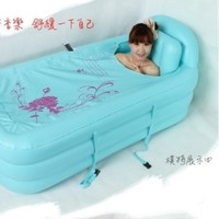 2014 Adult SPA Inflatable Bath Tub with Air Pump Blue
