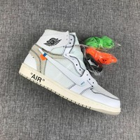 Best Deal Online Nike Air Jordan Retro 1 Off-White x Air Jordan 1 Men Sneakers AQ0818-100