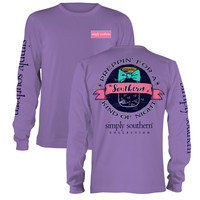Simply Southern Preppy Kind Of Night Mason Jar Bow Long Sleeve T-Shirt