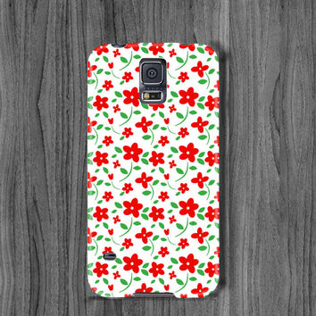 Floral Samsung s6 case galaxy s6 edge case s5 mini case galaxy note 4 case red flower note 3 case s4 case galaxy s5 case samsung s3 case