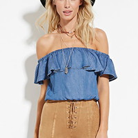 Lace-Up Faux Suede Shorts