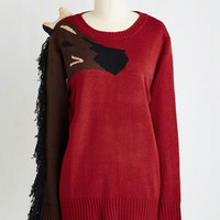 Quirky Mid-length Long Sleeve Come What Neigh Sweater