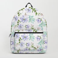 purple spring flowers Backpack by sylviacookphotography