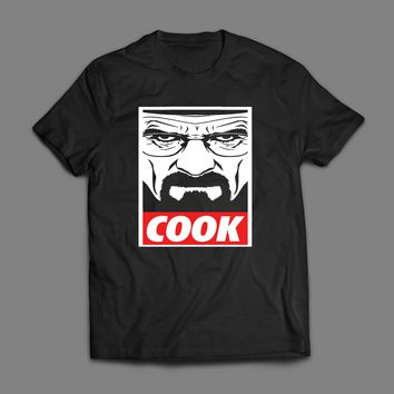 """BREAKING BAD """"COOK"""" OBEY STYLE T-SHIRT"""