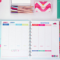 """2016 Weekly Planner Printable Pages - INSTANT DOWNLOAD PDF - Letter Size  (8.5"""" x 11"""")"""