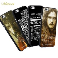 Minason Funny Jon Snow Hellip Night's King For iPhone X 8 5 S 5S SE 7 Plus 6 6S Case The Game of Throne Phone TPU Soft Case