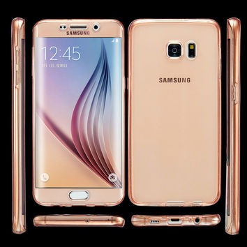 360 Degree Case For Samsung Galaxy J3 J5 J7 J310 J510 J710 Front Back Combo Protective Soft TPU Clear Transparent Smart Touch
