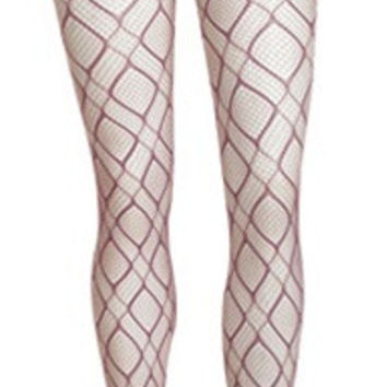 Purple Abstract Tights