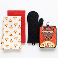 Simple by Design 4-pc. ''Pizza Is Always A Good Idea'' Kitchen Towel Set