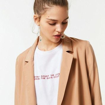 DCCKVE6 UO Drapey Belted Blazer | Urban Outfitters