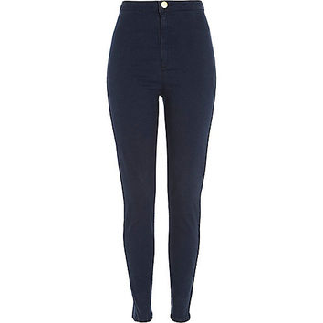 River Island Womens Dark wash denim tube pants
