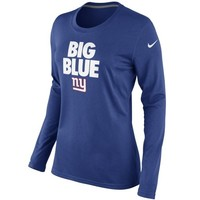 Nike New York Giants Ladies Big Blue Local Long Sleeve T-Shirt - Royal Blue