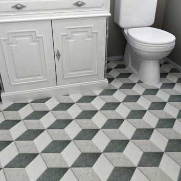 "Transit 8.63"" x 9.88"" Porcelain Mosaic Tile in Gray"