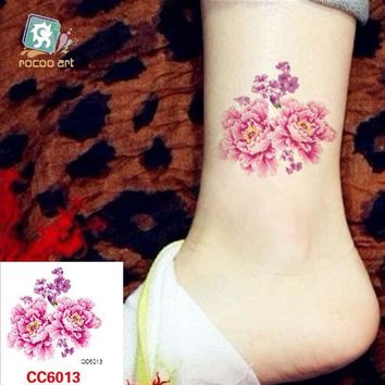 Mini Body Art waterproof temporary tattoos for women beauty flower design flash tattoo sticker Free Shipping CC6013