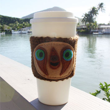 Belt the Sloth Inspired Coffee Travel Mug Cup Cozy from The Croods: Eco - Friendly  Crochet Knit Sleeve