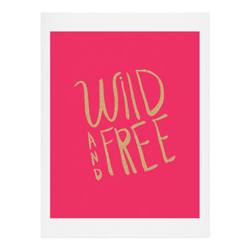Allyson Johnson Wild and free glitter Art Print