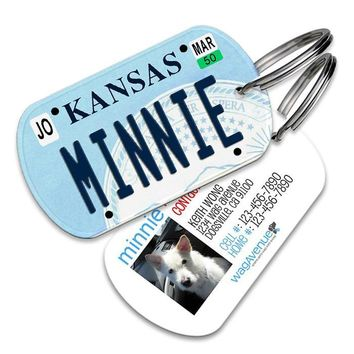 Kansas License Plate Pet Tag