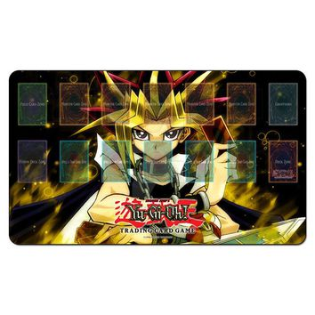 Family Friends party Board game Yugioh Shonen Jump Playmat s TCG CARDS Play Mat,Custom Dark Magician Girl Yu-gi-oh Design Rug Table Game Pad Free Bags AT_41_3