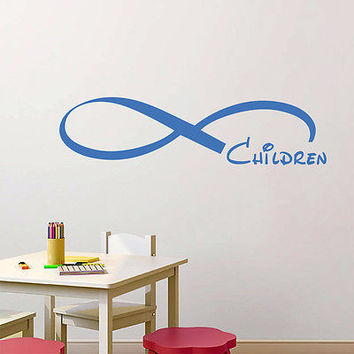 Wall Decals Quote Infinity Symbol Children Loop Vinyl Sticker  Bedroom DA3810