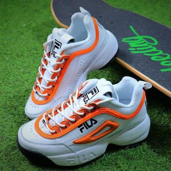 DCCKU62 FILA Disruptor II 2 White Orange FW0165-038 Shoes