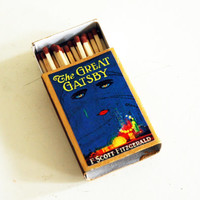 The Great Gatsby - Book Covered Matchbox - F. Scott Fitzgerald