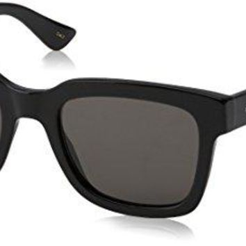Gucci Fashion Sunglasses, 52/21/145, Black / Smoke / Black
