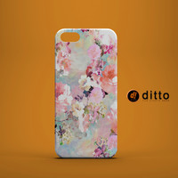 PINK PASTEL FLOWERS Design Custom Case by ditto! for iPhone 6 6 Plus iPhone 5 5s 5c iPhone 4 4s Samsung Galaxy s3 s4 & s5 and Note 2 3 4