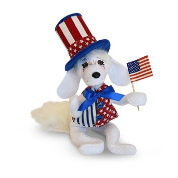 Annalee Dolls 6in 2018 Patriotic Pup Plush New with Tags