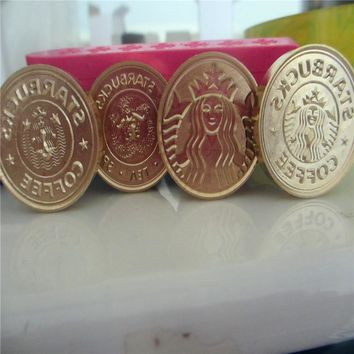 DIY Starbucks logo Initial customize your logo Name Box set personalized Letter/Sealing Wax /wedding Wax Seal Stamp Gold  Custom
