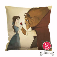Disney Beauty and The Beast Art Cushion Case / Pillow Case