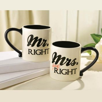 Mr. & Mrs. Right 18 Oz Mug Packed As Set Of 2