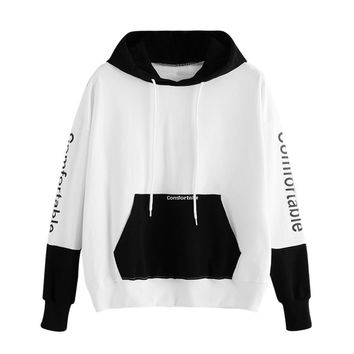 High Recommend Womens Hoodie Print Comfortable Sweatshirt Long Sleeve Pullover Tops Blouse plus size women clothing camisetas