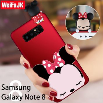 WeiFaJK 3D Cute Cartoon Phone Cases for Samsung Galaxy Note 8 Case Fashion New Girl Cover for Samsung Galaxy Note8 Silicone Case