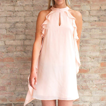 Anjelica Ruffle Dress - Blush