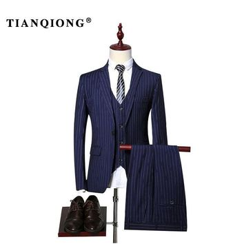 TIAN QIONG Mens Striped Suit