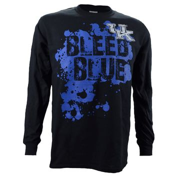 University of Kentucky Bleed Blue on a Long Sleeve Black T